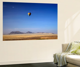 Aerial View of Hot Air Balloon over Namib Desert  Sesriem  Namibia