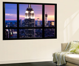 Window View  Special Series  Empire State Building and Liberty Tower by Night  Manhattan  NYC  US