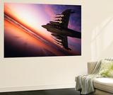 AV-8/Vtol Harrier Jet with ASRAAM (AIM-132) Rockets at Sunset