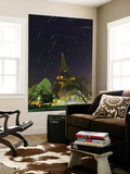 Star Trails around the North Celestial Pole  Marked by Star Polaris  over the Eiffel Tower