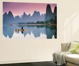 Cormorant Fishing at Dusk  Li River  Guangxi  China