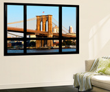Window View  Special Series  Brooklyn Bridge  Sunset  Manhattan  New York City  United States