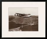Boeing B-314 over San Francisco Bay  California 1939