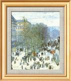 Boulevard des Capucines, c.1873 Art texturé encadré par Claude Monet