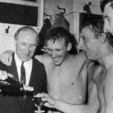 Manchester United Celebrate Winning First Division  1963