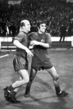 Bobby Charlton Celebrating with George Best  May 1968