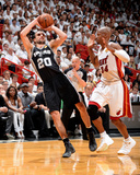 2014 NBA Finals Game Four: Jun 12  Miami Heat vs San Antonio Spurs - Manu Ginobili  Ray Allen