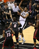 2014 NBA Finals Game Five: Jun 15  Miami Heat vs San Antonio Spurs - Tim Duncan
