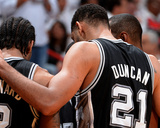 2014 NBA Finals Game Three: Jun 10  Miami Heat vs San Antonio Spurs - Tim Duncan  Kawhi Leonard