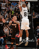 2014 NBA Finals Game Five: Jun 15  Miami Heat vs San Antonio Spurs - Patty Mills  Michael Beasley
