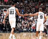 2014 NBA Finals Game Two: Jun 8  Miami Heat vs San Antonio Spurs - Tim Duncan  Tony Parker