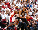 2014 NBA Finals Game Three: Jun 10  Miami Heat vs San Antonio Spurs - LeBron James  Tim Duncan