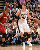 2014 NBA Finals Game One: Jun 5  Miami Heat vs San Antonio Spurs - Chris Bosh  Tiago Splitter