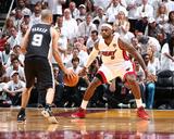 2014 NBA Finals Game Three: Jun 10  Miami Heat vs San Antonio Spurs - LeBron James  Tony Parker