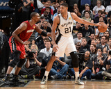 2014 NBA Finals Game One: Jun 5  Miami Heat vs San Antonio Spurs - Chris Bosh  Tim Duncan