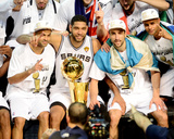 2014 NBA Finals Game Five: Jun 15  Miami Heat vs San Antonio Spurs - Tony Parker  Tim Duncan