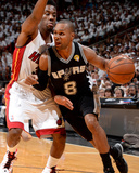 2014 NBA Finals Game Four: Jun 12  Miami Heat vs San Antonio Spurs - Patty Mills  Norris Cole
