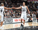 2014 NBA Finals Game Five: Jun 15  Miami Heat vs San Antonio Spurs - Manu Ginobili  Tony Parker