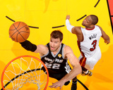 2014 NBA Finals Game Four: Jun 12  Miami Heat vs San Antonio Spurs - Tiago Splitter  Dwyane Wade