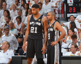 2014 NBA Finals Game Four: Jun 12  Miami Heat vs San Antonio Spurs - Tim Duncan  Tony Parker