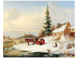 Habitants by a Frozen River