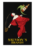 Affiche publicitaire Sauvion'S Brandy Reproduction d'art par Leonetto Cappiello