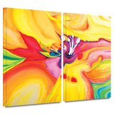 Secret Life of Lily 2 piece gallery-wrapped canvas