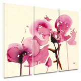 Orchids I 3 piece gallery-wrapped canvas