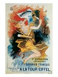Courrier Francais, A La Tour Eiffel Reproduction d'art par Jules Chéret