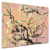 3-Piece Interpretation in Eggshell Almond Blossom 3 piece gallery-wrapped canvas