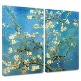 Almond Blossom 2 piece gallery-wrapped canvas
