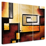 Abstract Modern 3 piece gallery-wrapped canvas