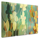 Shadow Florals 3 piece gallery-wrapped canvas