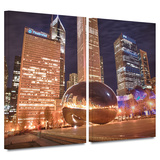 Chicago- The Bean I 2 piece gallery-wrapped canvas