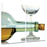 Bottle Plus Glass 2 piece gallery-wrapped canvas