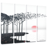 Aki 4 piece gallery-wrapped canvas