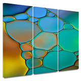 Connected II 3 piece gallery-wrapped canvas