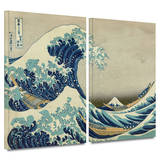The Great Wave Off Kanagawa 2 piece gallery-wrapped canvas