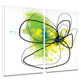 Citron Petals 2 piece gallery-wrapped canvas