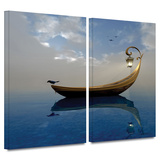 Narcissism 2 piece gallery-wrapped canvas