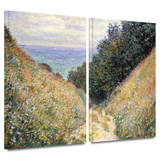 Footpath 2 piece gallery-wrapped canvas