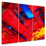 Passionate Explosion 3 piece gallery-wrapped canvas