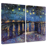 Starry Night over the Rhone 2 piece gallery-wrapped canvas