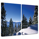 Lake Tahoe in Winter 2 piece gallery-wrapped canvas
