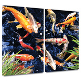 Koi 2 piece gallery-wrapped canvas