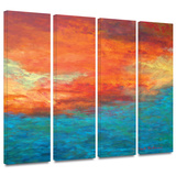 Lake Reflections II 4 piece gallery-wrapped canvas