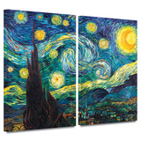 Starry Night 2 piece gallery-wrapped canvas