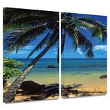 Beautiful Smini Beach 2 piece gallery-wrapped canvas