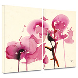 Orchids I 2 piece gallery-wrapped canvas
