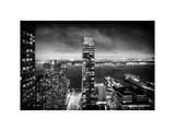 Landscape Foggy Night in Manhattan